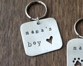 Mama's Boy - Pet Tag - Dog Tag - Aluminum, Metal, Mother's Day Gift from the Dog