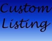 Custom listing for bmg116