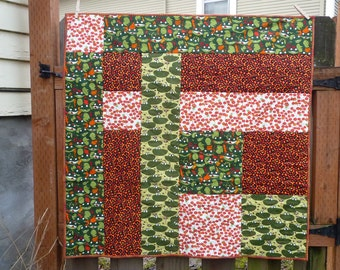 Baby Quilt with Frogs and Friends