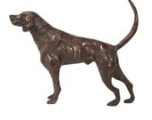 RESERVED -- Vintage Bronze Hunting Dog Sculpture -- Coon Hound, Labrador, Retriever