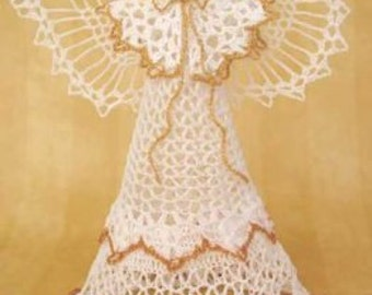 Angel Victoria Tree Topper Crochet Pattern PDF