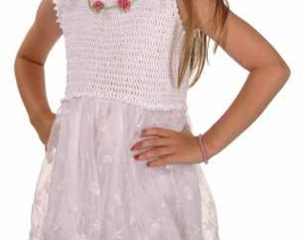 Roses and Lace Sundress for Girls Crochet Pattern PDF