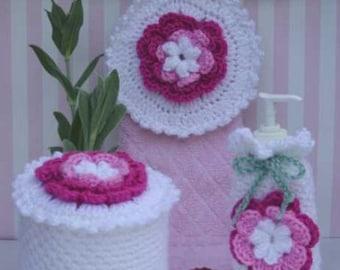 Rose Radiance Bath Set Crochet Pattern PDF
