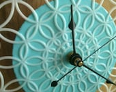 RESERVED clock - retro, modern doily clock