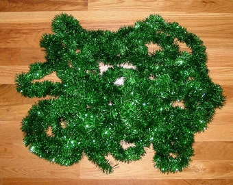Vintage Garland Green Metallic Style 20+ Yards Christmas Decor Wreath Tree Mantel Package Wrapping Mid-1980's  (MR5)