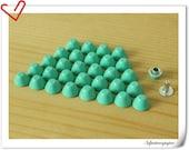 100sets of 8mm  aque blue rivets  Purse feet studs M65D
