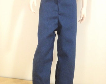 Handmade Barbie and Ken Clothes Kens Navy Blue Pants Only