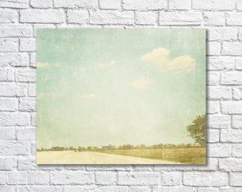 BUY 2 GET 1 FREE Nature Photography, Landscape, Wall Decor, Road Trip Photo, Vintage Inspired, Nursery Decor, Shabby Chic - Summer Drive