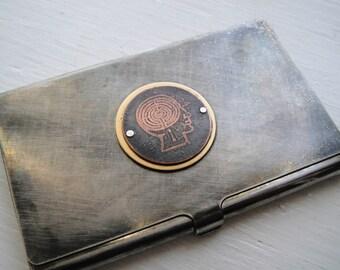 Head Case Etched Business Card Case - Acid Bath