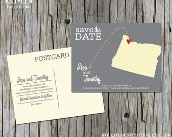 Oregon – Save the Date – Portland, Eugene Destination Wedding – Wedding Save the Dates