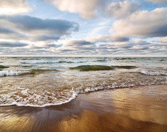 Clouds and Water - Lake Michigan - Canvas Wrap - Michigan Photography