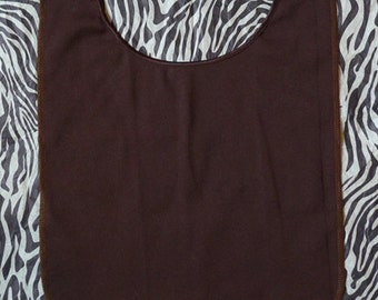 Brown Cotton Scoop Neck CoverMe