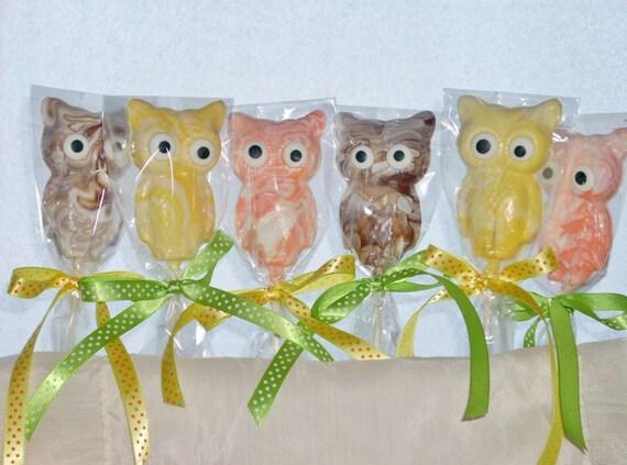 Chocolate Owl Lollipops