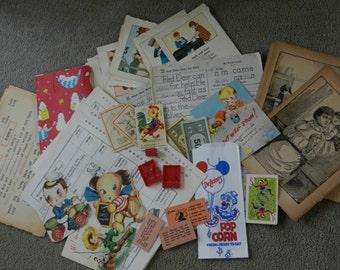 Kid Style - Ephemera Package Lot of Vintage Goodies