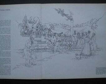 Train and Passanger Print Scene