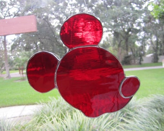 Mouse Stained Glass Suncatcher