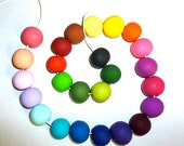 Geometrical Colorful Round Handmade Beads of your choice / Modern Jewelry /Spring Fashion / Simple necklace