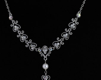 Rhinestone Bridal Necklace. Listing 120011290