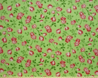 Pam Kitty Love, Lakehouse Dry Goods, Tiny Floral in Lime LH12033LIME - 1/2 Yard