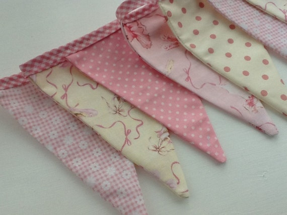 Ballet Bunting - Fabric Garland, Girl's bedroom, photo prop, dance school