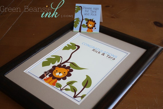 JUNGLE LION Baby Shower Printable Welcome / Congrats Sign