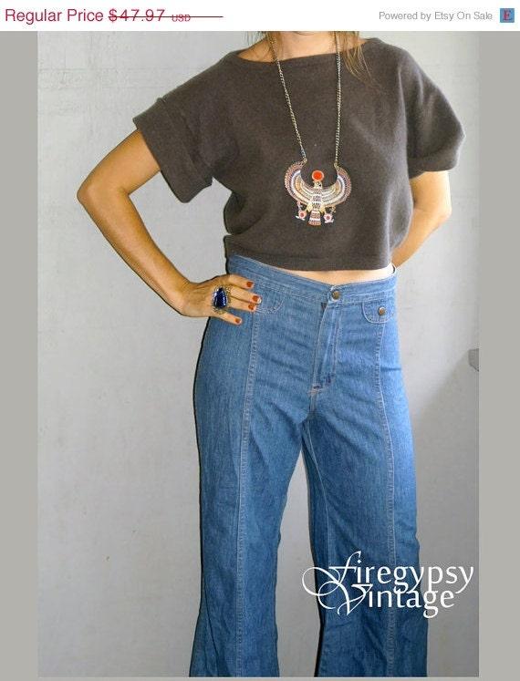 70s denim high waist jeans M/L