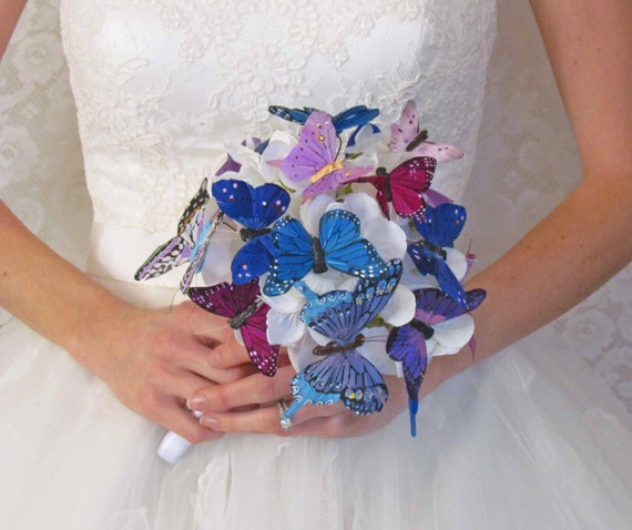 Purple & Blue Butterfly Bouquet...Ready to Ship