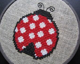 Ladybug modern cross stitch