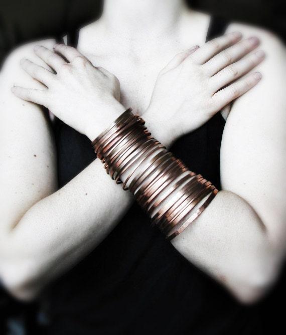 Bangles Bracelet Copper,  Cuff Bracelet - Nomadic Jewelry - Handmade Solid Copper Jewelry - Unisex- handmade in Austin, Tx