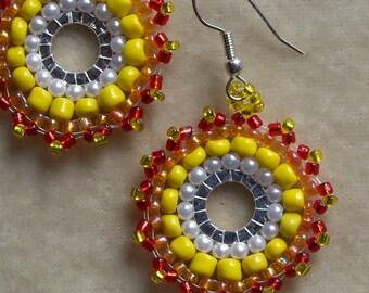Beaded Sunshine Earrings