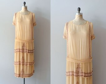 Lycée Françoise dress |  vintage 1920s dress • silk beaded 20s dress