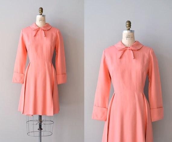 vintage 60s dress / 1960s dress / Fond Farewell