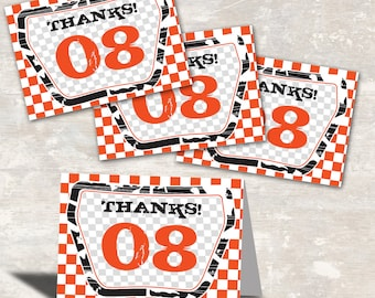 PRINT & SHIP Bmx Dirt Bike Birthday Party Favor Bag Toppers (set of 12) >> personalized and shipped to you << Paper and Cake