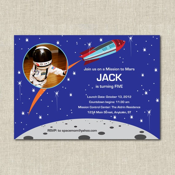astronaut invitations - photo #31
