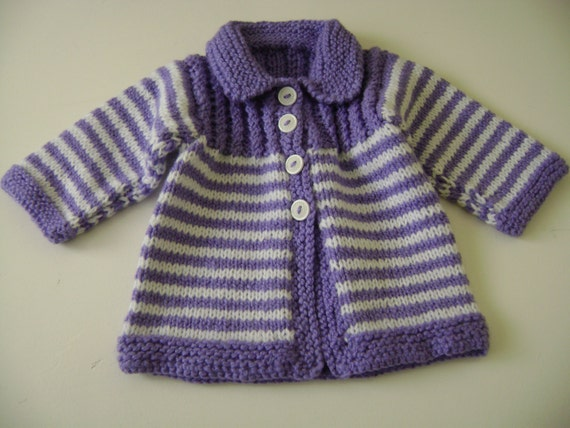 REDUCED PRICE Knit Baby Sweater  15% Off///  Newborn to 5 Months.