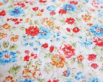 Japanese Floral Fabric - Colorful Antique Florals - Fat Quarter
