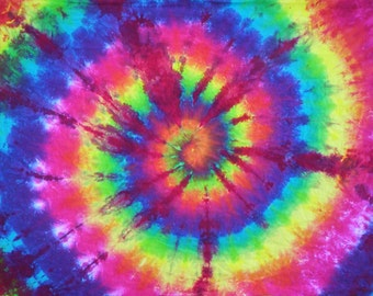 Dreaming of Rainbows BedSheets Twin Size 100% Organic Cotton Tie Dye - Customizable