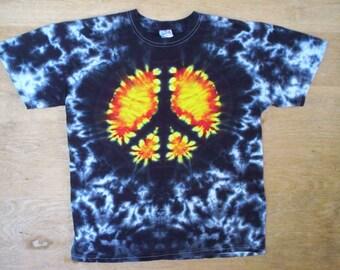 Peace Sign Tie Dye Size XL