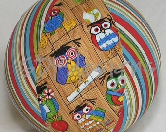 Balloon Ball Toy - Hoot Hoot Smarty Owl & Stripes - As seen with Michelle Obama on Parenting.com