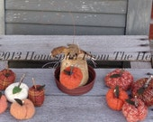 Primitive Pumpkin Peter Mouse, Halloween mouse, Harvest mouse, fall decoration