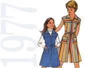 1970s Girls Jumpsuit Vintage Sewing Pattern - Girls Pantdress Pattern - Childs Romper Pattern - Simplicity 8051 - Uncut, FF