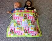 American Girl Bedding -- Reversible Strawberry Shortcake Blanket