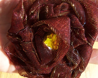 Red Gold Hair Clip
