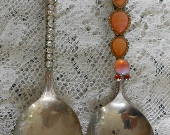 One of a Kind Bejeweled Spoons