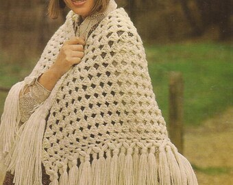 PDF Crochet Shaw Pattern (E242)
