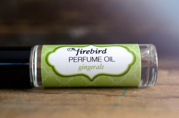 Gingerale Perfume Oil, Bright Citrus, Fresh Ginger, Fizz, Roll On Perfume
