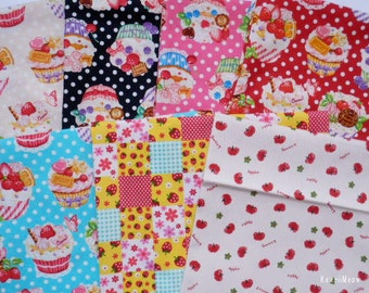 Special Price - Cup Cake,Strawberry,Apple - 7 Fat Quarter Bundle Set - F167