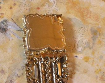 Goldtone Chain Bracelet Vintage 1950's