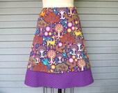 Reserved for Miranda Fantastical Forest a-line skirt