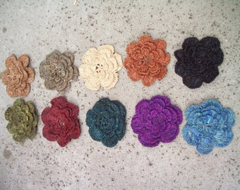 Large Crocheted Raffia Flower